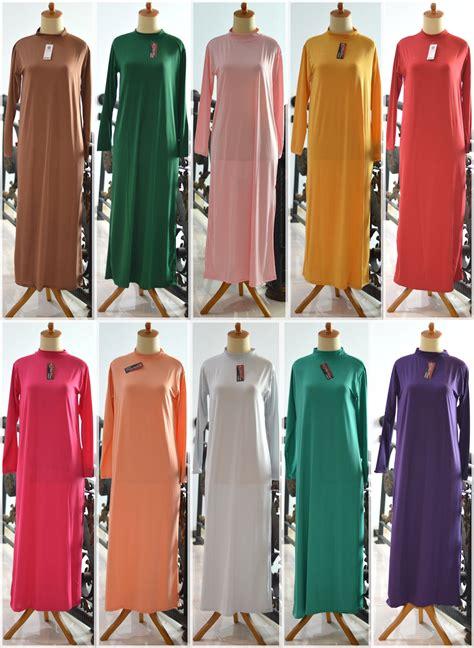 jual dalaman gamis baju muslim kaftan manset panjang inner terusan halus kebaya jadi gaun
