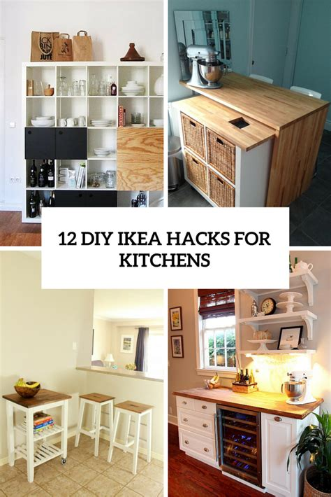 diy kitchen furniture 12 functional and smart diy ikea hacks for kitchens
