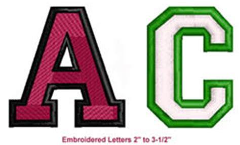 cap letters script    color embroidered