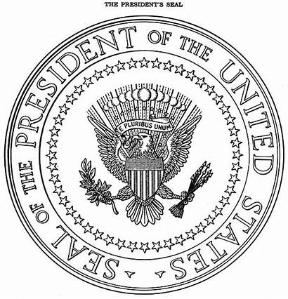 Presidential Seal President Executive States United Order