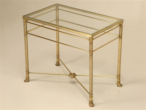 modern brass table l mid century modern brass end table w paw feet for sale