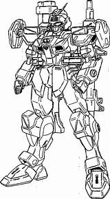 Coloring Dagger Gundam Pages Buster Suit Template Seed Mobile Drawings Designlooter 32kb sketch template