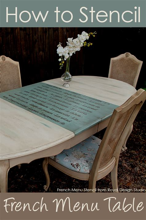 hometalk furniture stenciling french menu lettering stencil