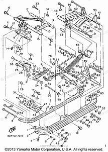 Yamaha Snowmobile 1989 Oem Parts Diagram For Track