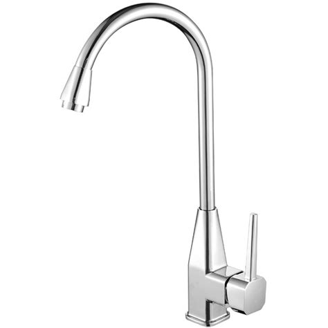 Cheap Faucets by Cheap Kitchen Faucets Gooseneck Shaped Single Handle Silver
