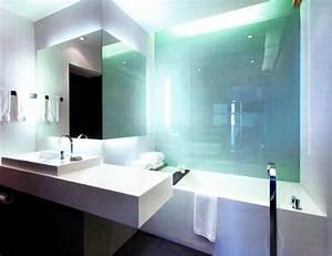 mobilier table verre salle de bain With credence pour salle de bain