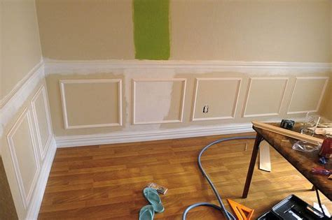 Diy Chair Rail And Picture Frame Molding  No Place Like