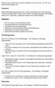 professional building superintendent templates to showcase With building construction resume