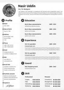editable resume template 30 free beautiful resume templates to hongkiat