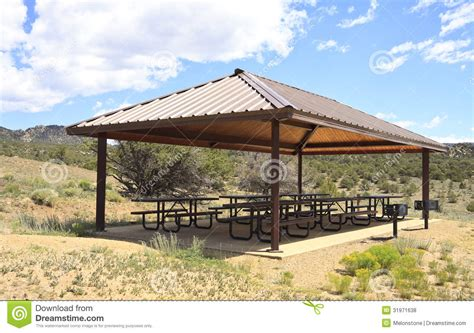 covered outdoor bbq area outdoor picnic area royalty free stock photos image 31971638