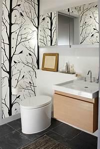 Décoration Murale Salle De Bain : petite salle de bains avec wc 55 id es de meubles et d co ~ Teatrodelosmanantiales.com Idées de Décoration