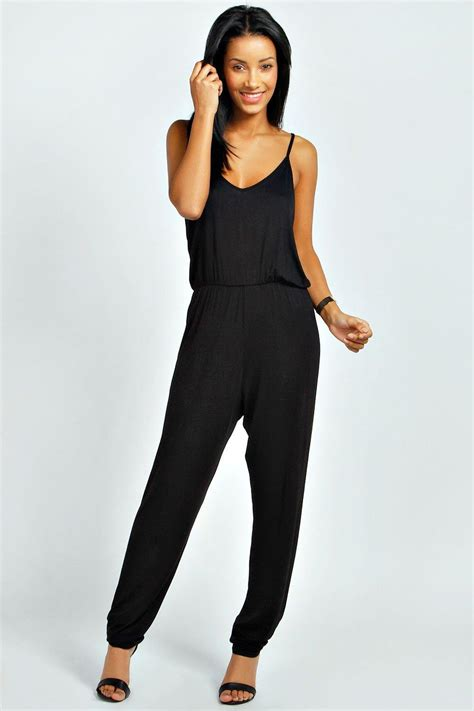 boohoo jumpsuits erin drape back strappy jumpsuit at boohoo com