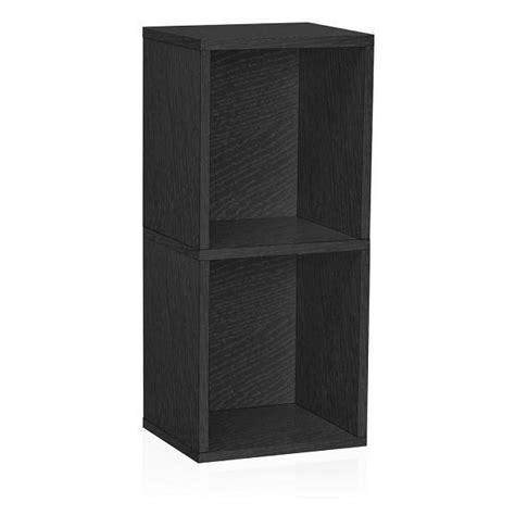 Narrow Black Bookcase by 2 Shelf Narrow Bookcase In Black Formaldehyde Free Way