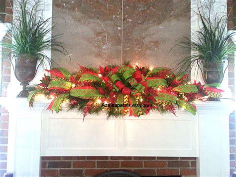christmas mantle garlands xl mantel garland swag fireplace mantle garland