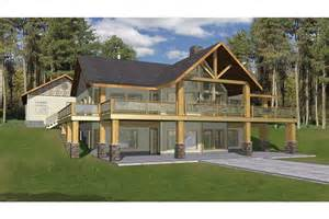 hillside home designs hillside with two levels of outdoor living hwbdo76794 a frame from builderhouseplans