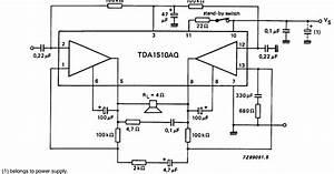 Schematic Diagram  24 W Btl Or 2 X 12 W Stereo Car Radio