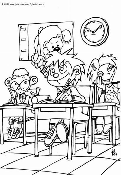 Classroom Coloring Pages Printable