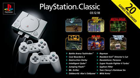 Playstation Classic's Full Game List Announced, And It