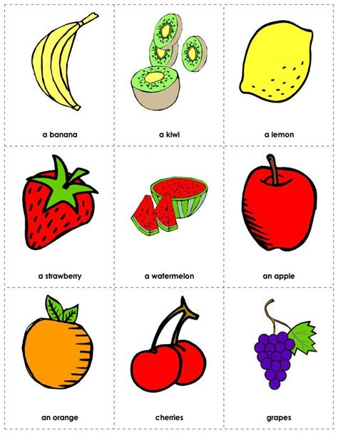 Free Printable Fruit Flashcards  Flash Cards  Pinterest  Free Printable, Christmas Images And Kid