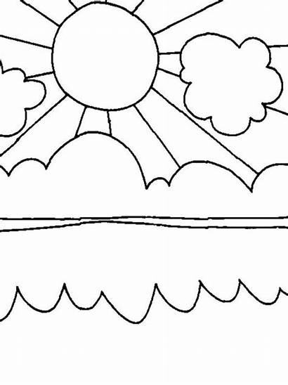 Coloring Sun Summertime Pages Shiny Colouring Sheets