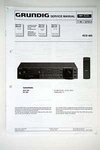 Grundig Rcd 405 Original Receiver Service Manual  Guide