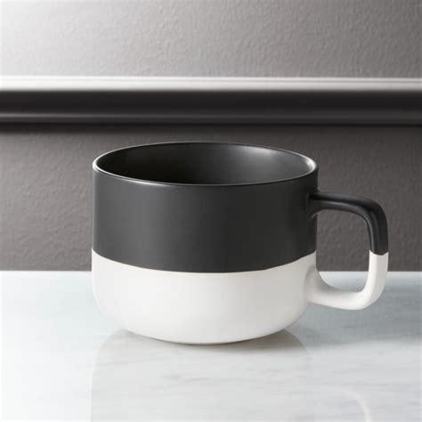 black dip coffee mug cb