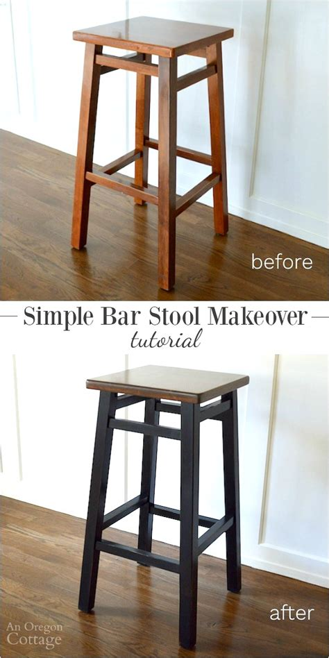 Bar Makeover by Simple Bar Stool Makeover Tutorial