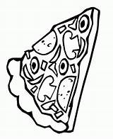 Pizza Coloring Pages Pepperoni Slice Sheets Clipart Pusheen Template Printable Popular Coloringhome Delicious Collection sketch template