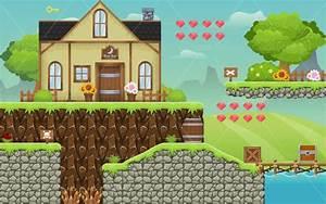 Medieval Village - Platformer Game Tileset - Game Art 2D