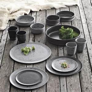 Teller Set Grau : raw teller 20cm grau gemustert aida kitchen ~ Michelbontemps.com Haus und Dekorationen