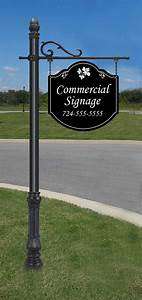 Large, Commercial, Hanging, Sign, And, 8, U0026, 39, Post