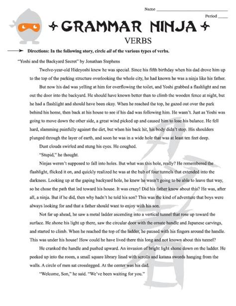 parts of speech worksheets high school worksheets for all