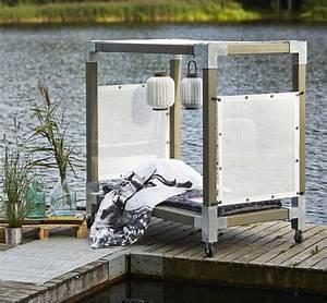 Matratze Garten Wetterfest : garten im quadrat himmelbett cubic mit baldachin gartenbett mit dach holz graubraun taupe ~ Indierocktalk.com Haus und Dekorationen