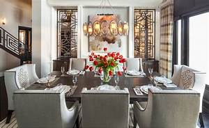 hamptons inspired luxury home dining room robeson design With house and home dining rooms