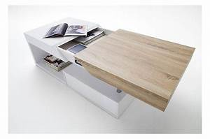 Table Basse Blanc Laqué Et Bois : table basse blanc laqu bois ~ Teatrodelosmanantiales.com Idées de Décoration