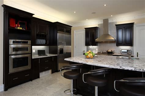 kitchen ideas with black cabinets 52 kitchens with wood and black kitchen cabinets 8120