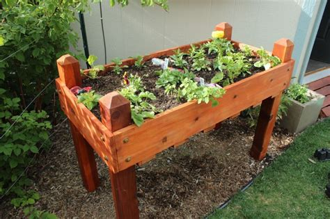 elevated planter box diy raised planter box a step by step building guide