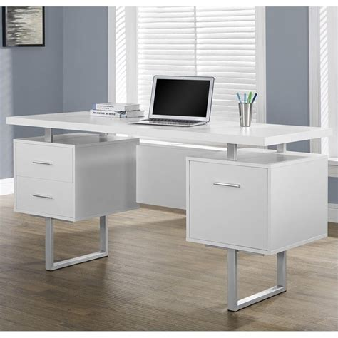 chaise bureau office depot 60 quot hollow office desk in white i 7081