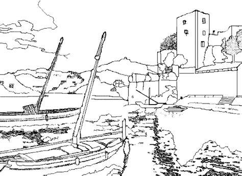 Dessin Bateau Au Port by Colorier Les Dessins De Monuments