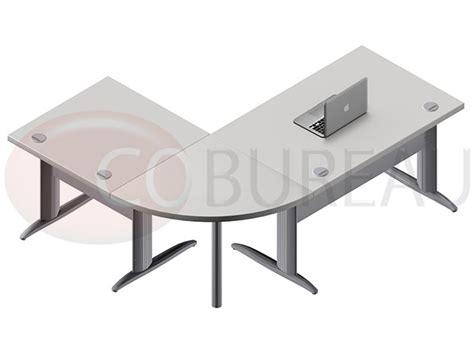 bureau angle droit ensemble bureau cadre 120 cm pro métal avec angle de