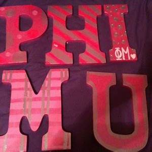 31 best phi mu images on pinterest With phi mu wooden letters