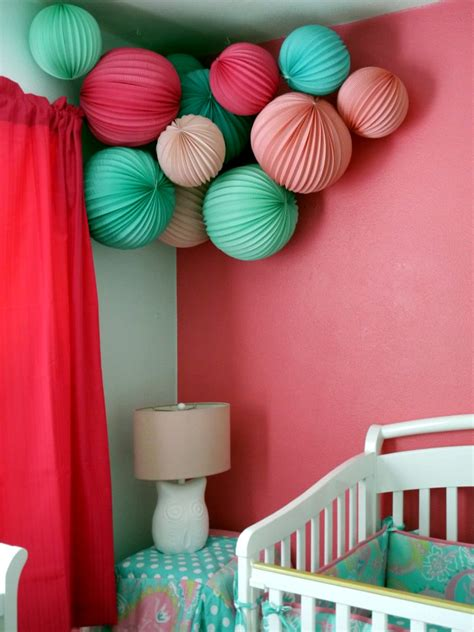 Teal Bathroom Wall Decor by Baby Room Decorating Ideas With Paper Lanterns Interior