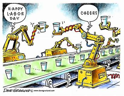 Labor Labour Happy Cartoons Meaningful Cartoon American