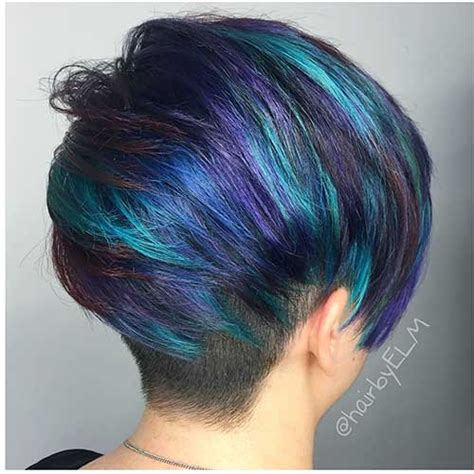 eye catching blue hair color ideas  short hair short