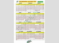 Calendario 2016 Dia Juliano Free Calendar Template