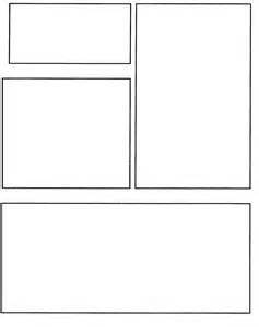 Blank Comic Book Strip Template