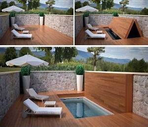 Mini Pool Terrasse : id es de paysagiste une mini piscine se tranforme en terrasse ~ Michelbontemps.com Haus und Dekorationen