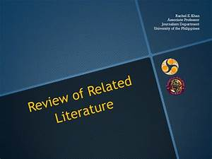Review of related literature example in thesis