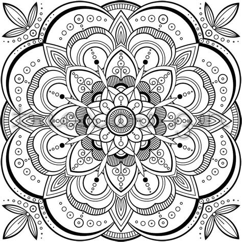 mandala coloring book page printable adult coloring