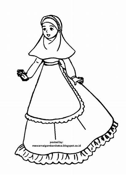 Mewarnai Gambar Anak Muslimah Kartun Barbie Princess